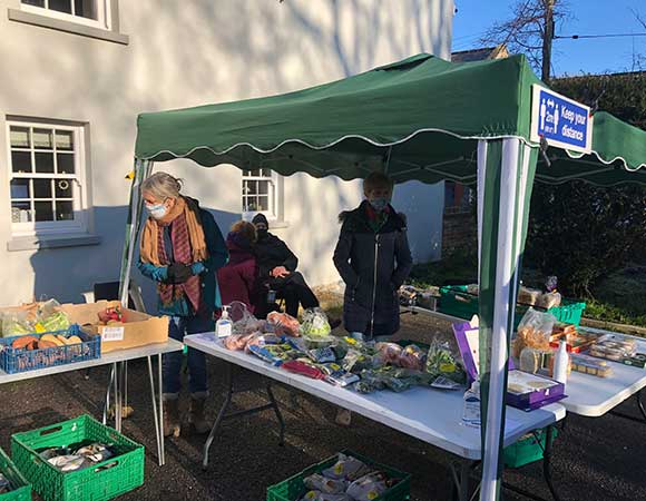 Easter activities at the Garden Glut and Surplus Food stall